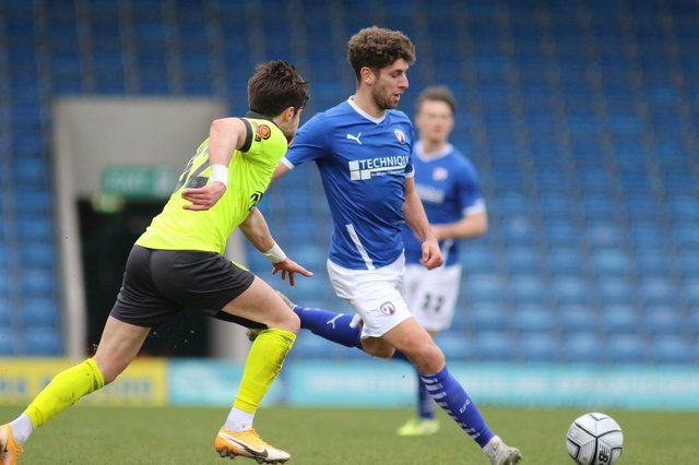 George Carline scored his first Chesterfield goal in the win against Bromley.