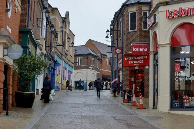 Chesterfield town centre.