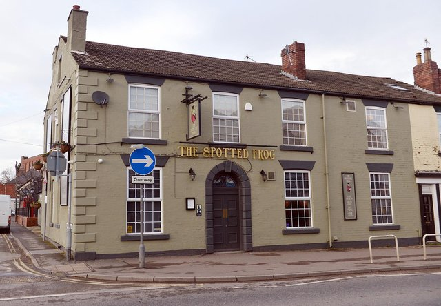 The Spotted Frog pub, on Chatsworth Road, Chesterfield.
