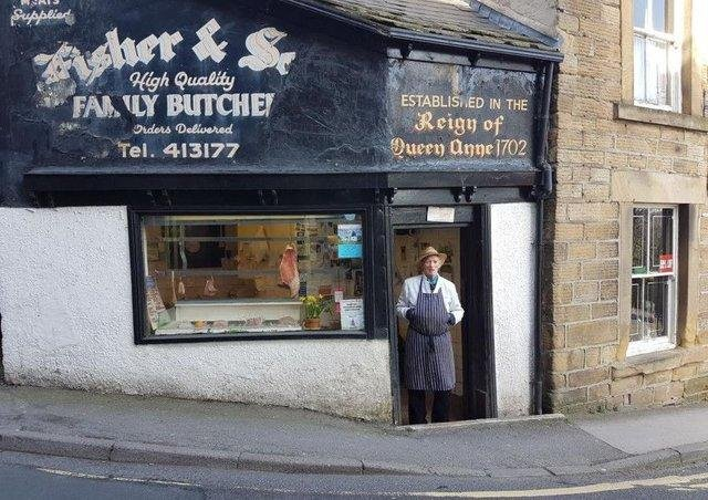 Frank Fisher, of Fisher & Son family butchers on High Street in Dronfield, has passed away aged 90