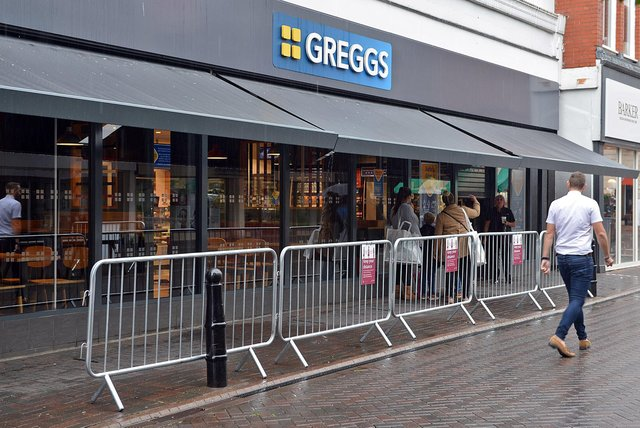 Greggs' outlet on Burlington Street in Chesterfield wants to allow customers to dine outside.