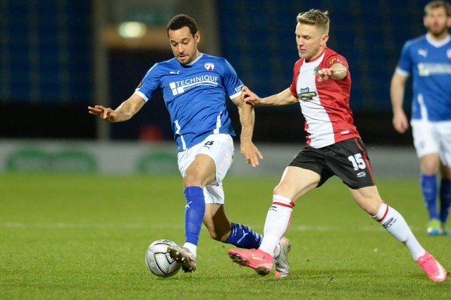 Curtis Weston is suspended for Chesterfield's trip to Maidenhead United on Saturday.