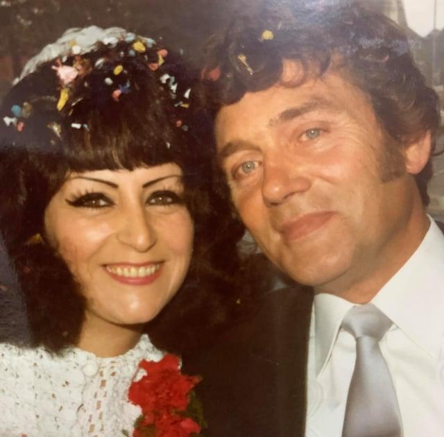 Vondra and Geoff Redfern on their wedding day.