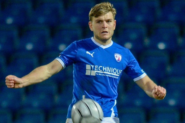 Laurence Maguire captained Chesterfield against Barnet on Saturday.