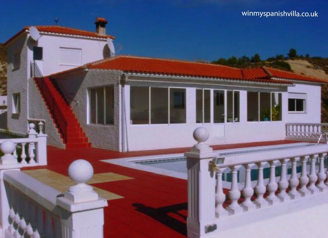 The Spanish villa a former Chesterfield man is raffling off to raise money for The Big Issue charity.