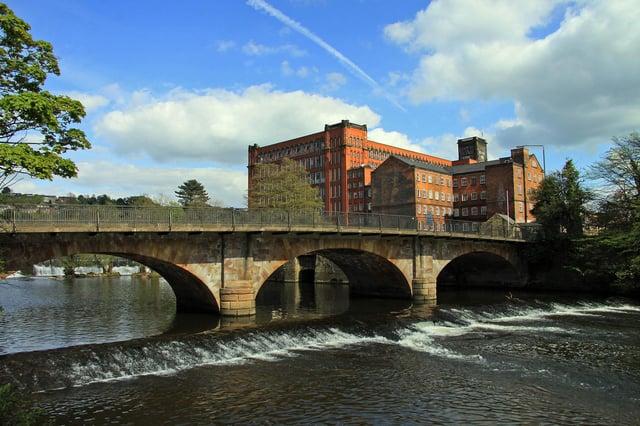Belper's historic mill.