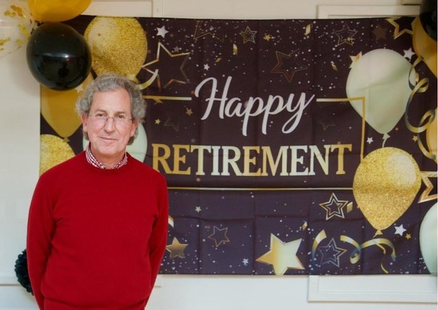 Dr Wordley at his retirement party.