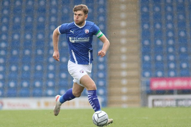Laurence Maguire has been named in the Vanarama 'team of the season'.