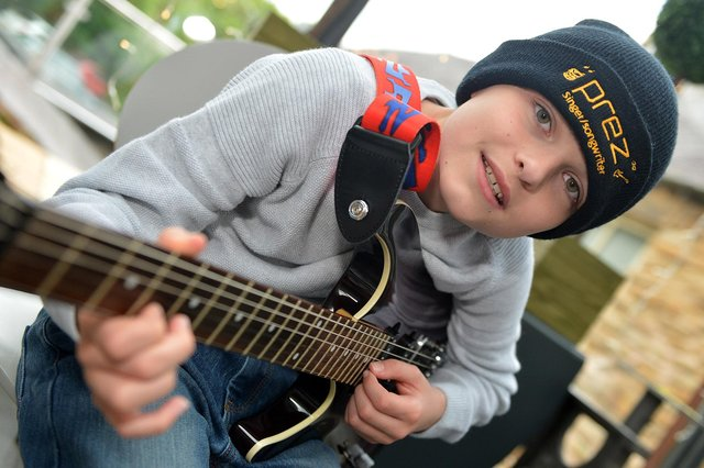 Young singer Presley Lewis, a Year 7 pupil at Dronfield Henry Fanshawe School, releases his debut single this week.