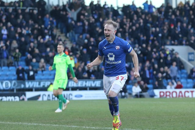 Scott Boden leaves Chesterfield after eight years at the club over two spells.