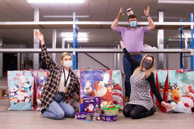 Pictured from left: Xbite's HR advisor Marcy White, head of HR Rikki Stout and HR manager Tracie Otter spread some Christmas cheer with a festive donation.