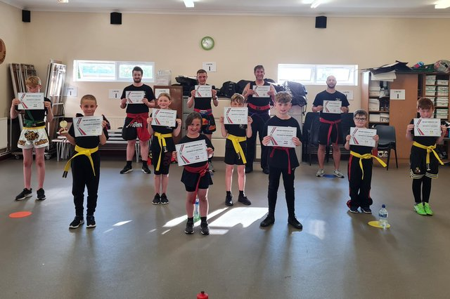 Some of the Rok-Ard kickboxers after their gradings.