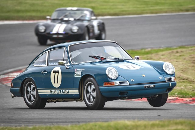 Seb Perez in action at Brands Hatch in his 1965 Porsche. Photo by Steve Hindle.