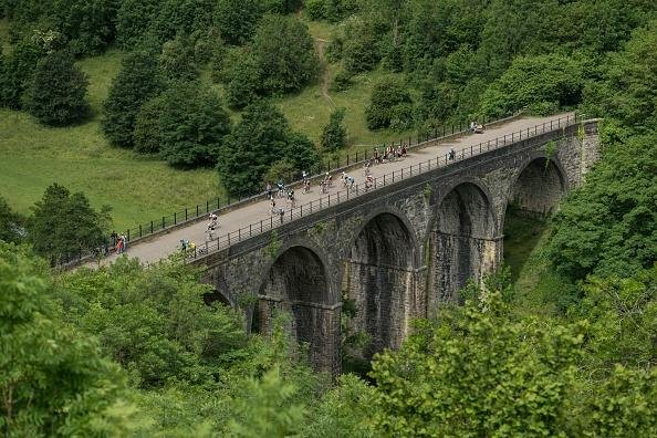 The Monsal trail is closing partially so essential work can take place (OLI SCARFF/AFP via Getty Images)