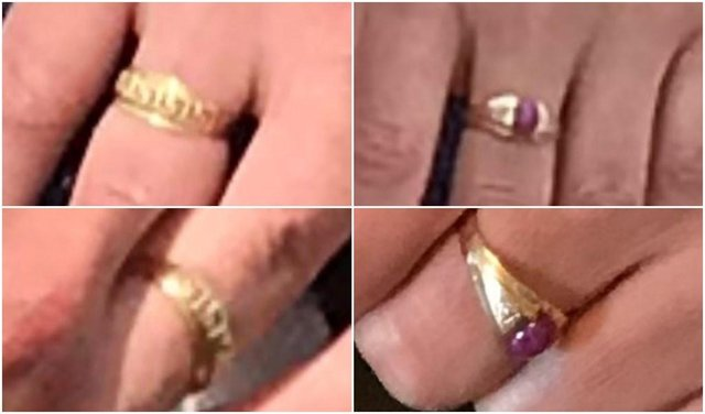 The two distinctive rings were among items stolen during a burglary at a home in Ripley