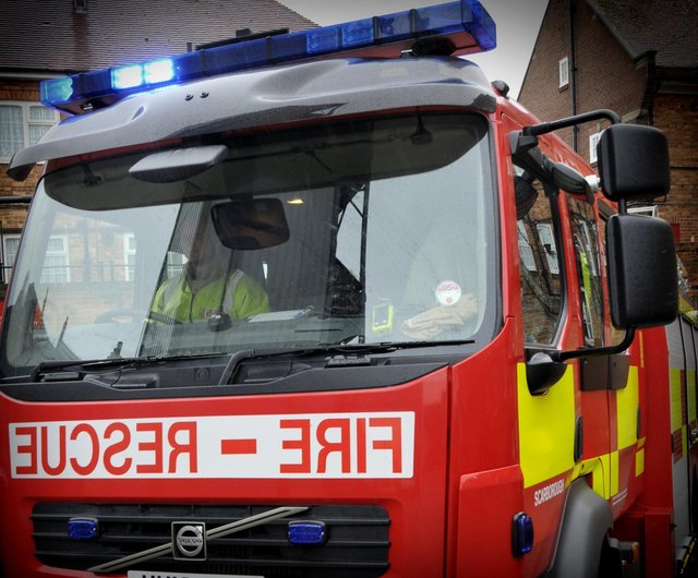 Firefighters were called to a house blaze in Chesterfield.