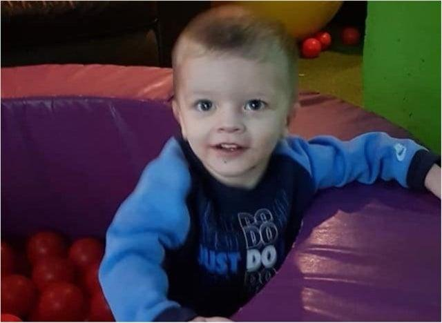 Pictured is toddler Keigan O'Brien, of Doncaster, who died of head injuries in January when he was just two-years-old.