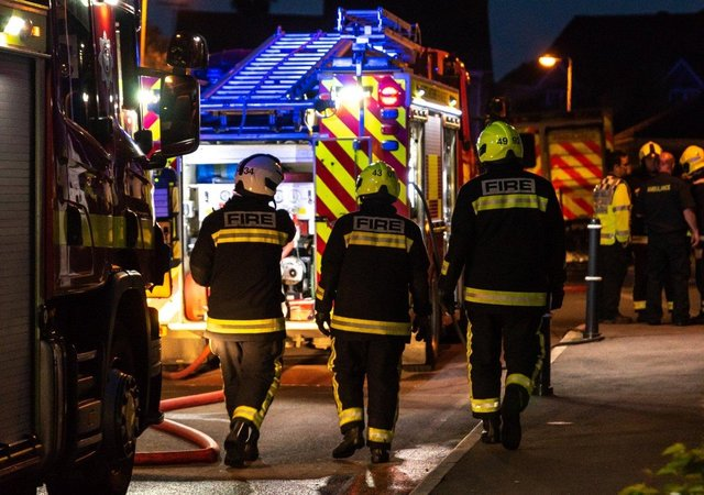 Firefighters tackled the blaze in Chesterfield.