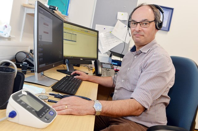 Dr Peter-John Flann, of Avenue House Surgery in Chesterfield. Pictures by Brian Eyre.