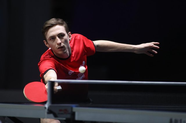 Liam Pickford suffered an early exit in Doha. Pic courtesy of World Table Tennis