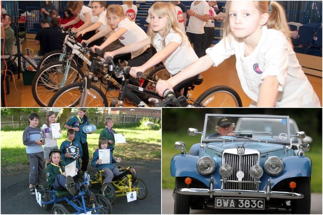 Pedal power creates energy for a band to play at Tupton Hall School; Matlock Green Scouts and Cubs win trophies competing in home-made pedal cars; Eckington Classic Car & Bike Show raises hundreds of pounds for charity every year.