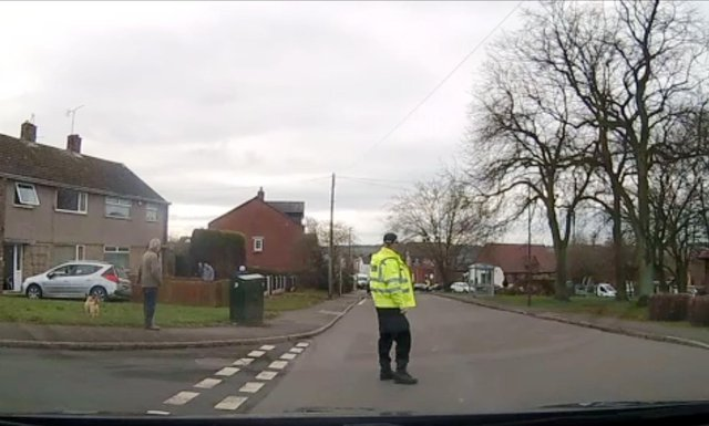 Police remained in the Charlesworth Street area of Bolsover today due to the funeral