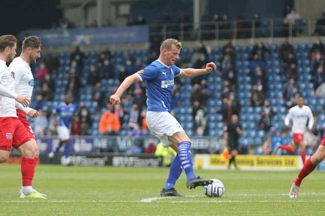 Chesterfield can secure a play-off place with a win against Halifax on Saturday.