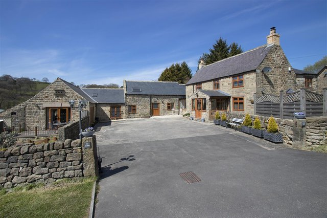 The property comprises a three-bedroom home, two-bedroom annexe and self-contained two-bedroom holiday cottage.