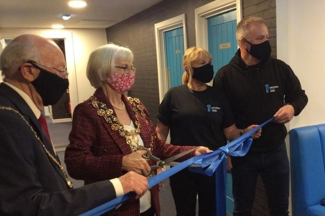 Chesterfield mayor councillor Glenys Falconer opened the town's Escape Rooms on Monday, May 17.