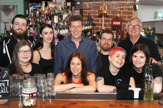 Staff at Chandlers celebrates its 20th birthday.