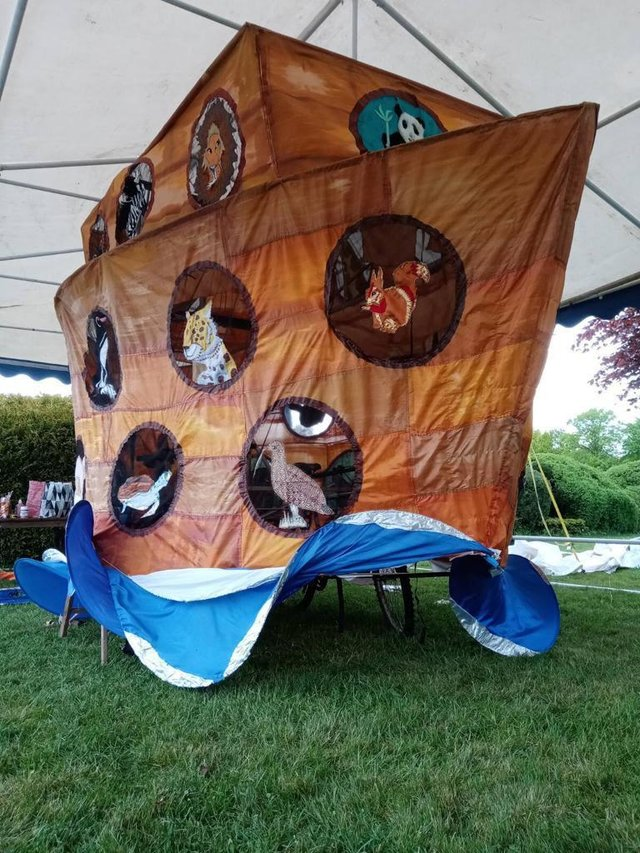 The ark will take to the streets of Chesterfield tomorrow.