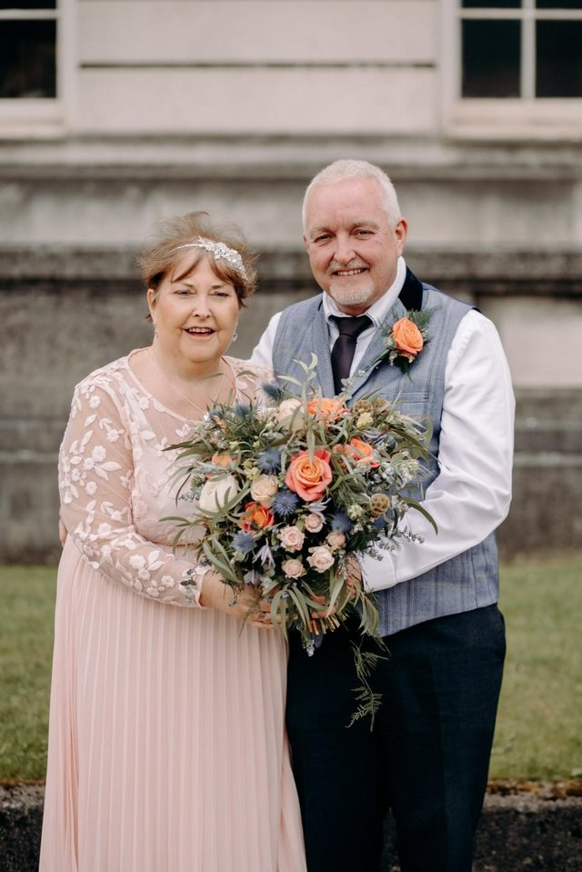 Claire Sivorn pictured with her husband Craig on their wedding day.