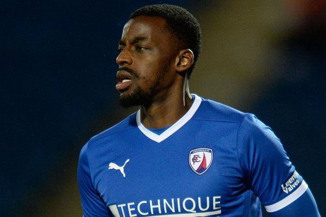Chesterfield host FC Halifax Town on Tuesday night. Pictured: Joel Taylor.