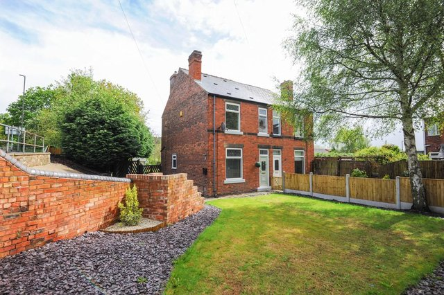 The property is a two-bedroom, semi-detached house.