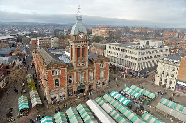A view of Chesterfield from the observation wheel.