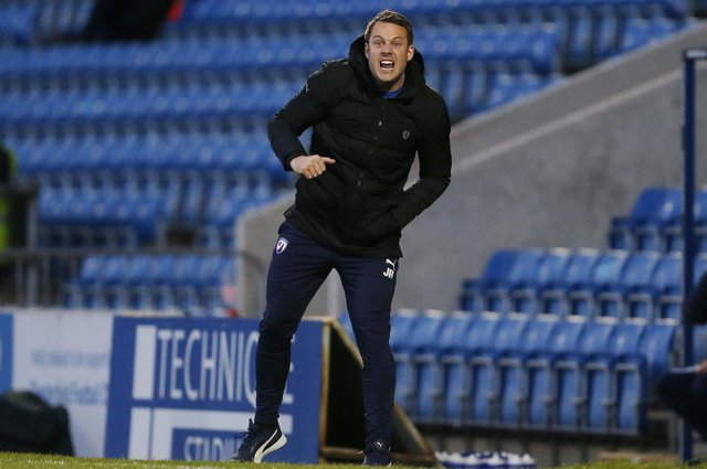 James Rowe has led Chesterfield from the relegation zone to challengng for a play-off spot.
