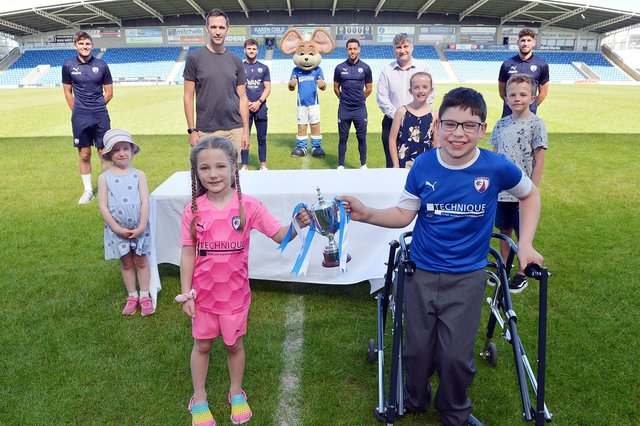 John Croot spoke to the DT following a trophy presentation after the Spireites won 'Planet Super League', a unique national football tournament where fans score goals for their club by completing planet-protecting activities.
