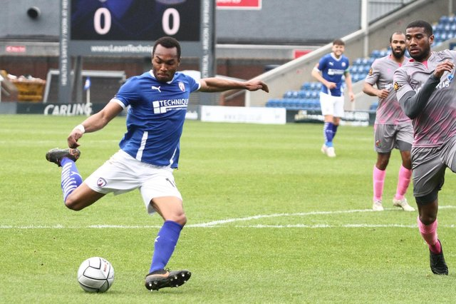 Marcus Dinanga, who was on loan at Chesterfield last season, has joined Altrincham on a permanent deal.