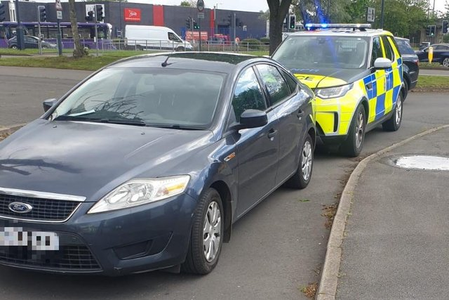 The men managed to evade police in Chesterfield before being picked up again in Derby