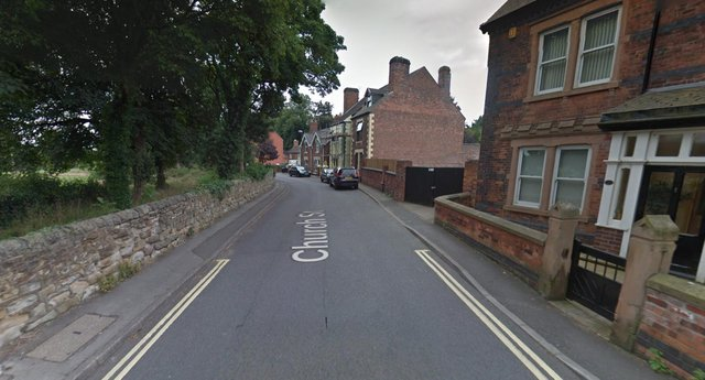 The suspected arson attack took place on Church Street, Riddings (google)