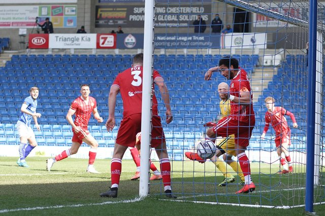 Laurence Maguire equalised for Chesterfield before Bromley struck a late winner.