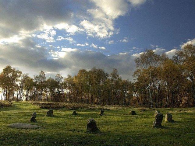 Nine Ladies Stone Circle.