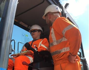 Zak Martin on a site visit with Costain.