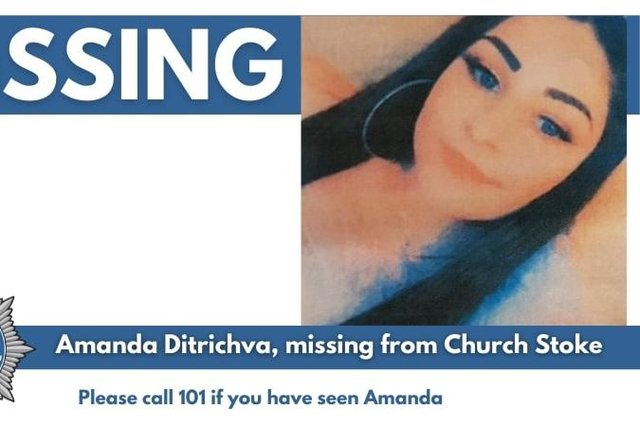 Police have confirmed that Amanda has been found 'safe and well' in Derby.