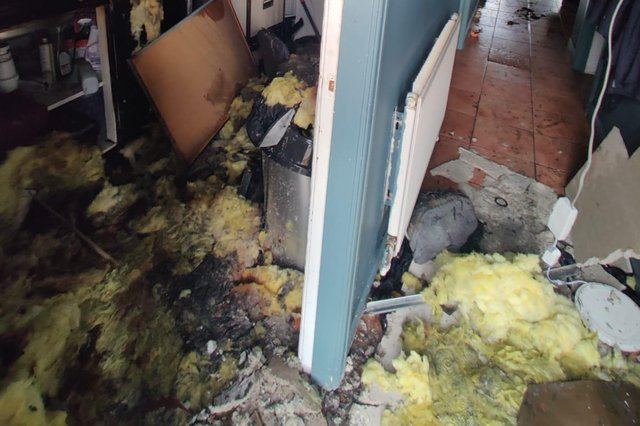 The salon will be closed for around two months after the blaze caused significant damage to the property.