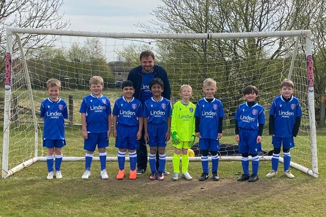 Linden Homes are sponsoring Brampton Rovers under-eights football team.