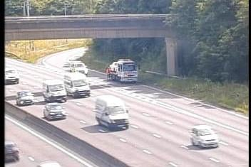 There are delays on the M1 northbound between Junction 28 and 29 after a collision.