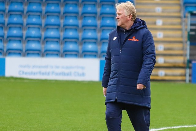 Chesterfield assistant manager, George Foster. Picture: Michaek South.