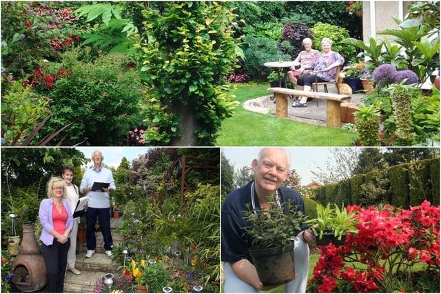 Green-fingered Chesterfield area residents enjoying their gardens.