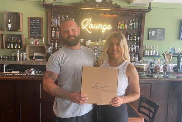 Owners Mitchell Hinchliffe and Ellie Sanders pictured with the cocktail making kits in Lounge Coffee Bar and Cafe in Eckington.